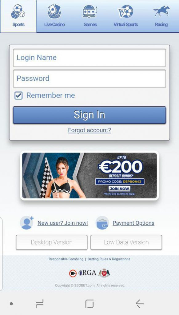 login-mobile-sbobet